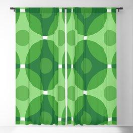 Green Circles Blackout Curtain