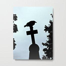 Pere-Lachaise Raven Metal Print