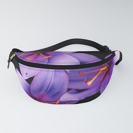 Beautiful Blue Ant Lilies, Flowers Scanography Fanny Pack