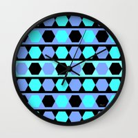 polygon Wall Clocks featuring Polygon by Heaven7