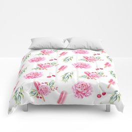 Tropical Chill Rose Comforters