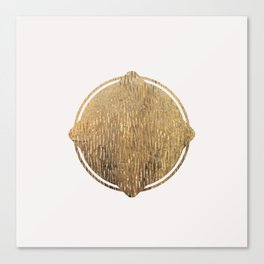 Gold Squircle Canvas Print