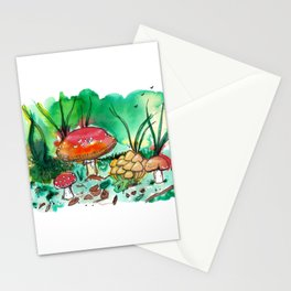 Toadstool Mushroom Fairy Land Stationery Cards