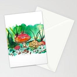 Toadstool Mushroom Fairy Land Stationery Cards