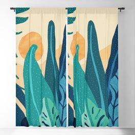 Afternoon Landscape  - Vertical Retro Palette Blackout Curtain