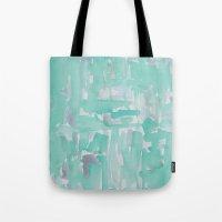 aqua Tote Bags featuring Aqua by Georgiana Paraschiv