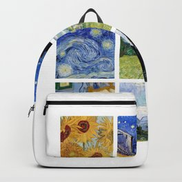 Van Gogh Collage #2 Art Gift Backpack