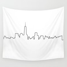 New York Life Line Wall Tapestry