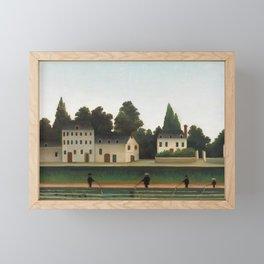 Landscape and Four Fisherman, Henri Rousseau Framed Mini Art Print