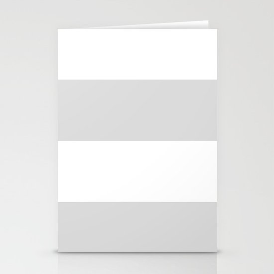 GRAY & WHITE STRIPE  Stationery Cards