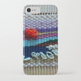 mini tapestry, weaving, Taito beach, Chiba, Japan, surf, surfing, surfing art, surf art, iPhone Case
