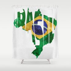 Worldmap shower curtains page 4 of 6 society6 brasil typographic world map brasil typography flag map art shower curtain gumiabroncs Gallery