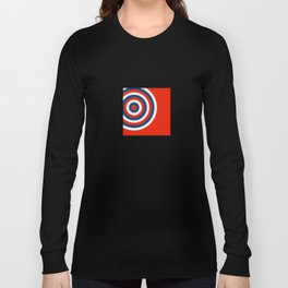 Retro Circles Pop Art - Red White & Blue Long Sleeve T-shirt