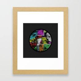 Pastel Porthole - Abstract, geometric, textured, pastel coloured artwork Framed Art Print