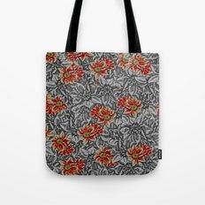 Floral grey Tote Bag