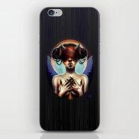 luna iPhone & iPod Skins featuring Luna  by Christina Dias