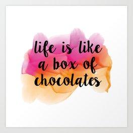 Box of chocolates Art Print