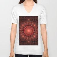 solar system V-neck T-shirts featuring Solar System by Brian Raggatt