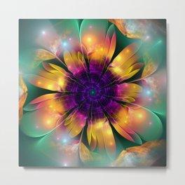 Artistic magical fantasy flower Metal Print