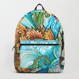 Girl in a Japanese Kimono Backpack