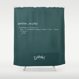 partner_xx.php Shower Curtain