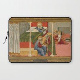 Sano di Pietro - The Birth and Naming of Saint John the Baptist Laptop Sleeve