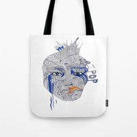popart Tote Bags featuring PopArt by Ina Spasova puzzle