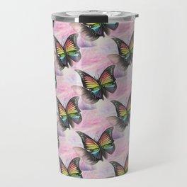 Les papillons de l'amour arc en ciel Travel Mug