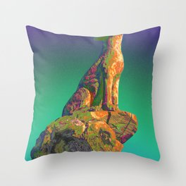 Coyote Call Throw Pillow