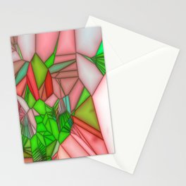 stained glass wonderfull colours Stationery Cards