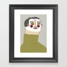 Man Illustration. Framed Art Print