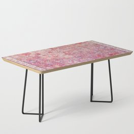 N45 - Pink Vintage Traditional Moroccan Boho & Farmhouse Style Artwork. Coffee Table
