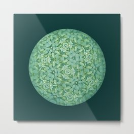 Kaleidoscopic Green Metal Print