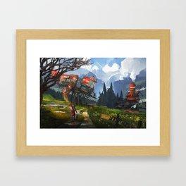 Petrolea Framed Art Print