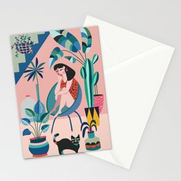 Plant lady ll Stationery Cards