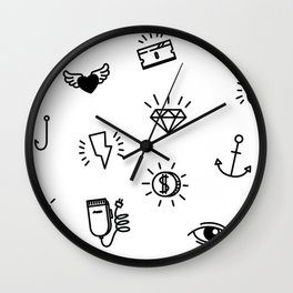 Fun Stuff! - White Wall Clock