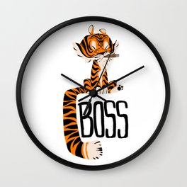 Tiger Boss Wall Clock