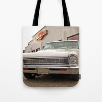 american beauty Tote Bags featuring American beauty #2 by Vorona Photography
