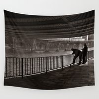 metropolis Wall Tapestries featuring Autumnal Symphony of a Metropolis by CAPTAINSILVA