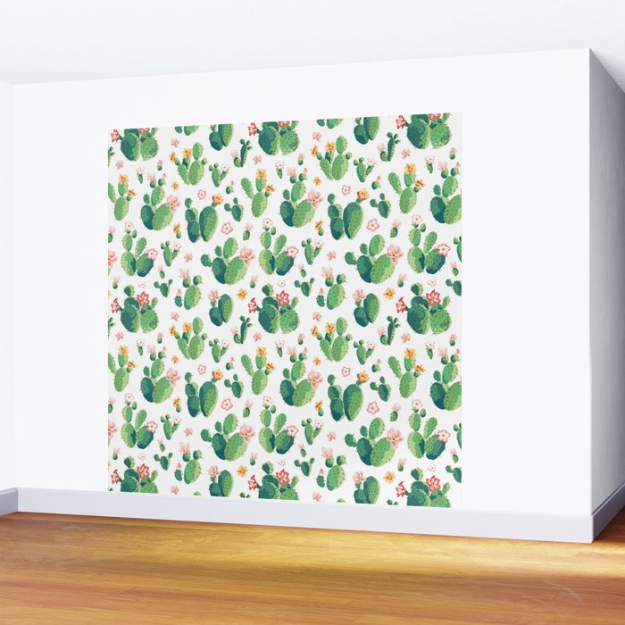Cactus pattern II Wall Mural