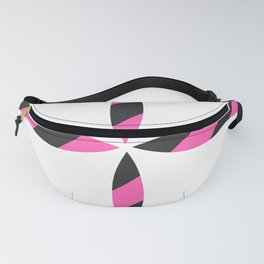 Hearts and Spades. pink and black lines color background. Fanny Pack