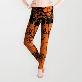 floral ornaments pattern wbi Leggings