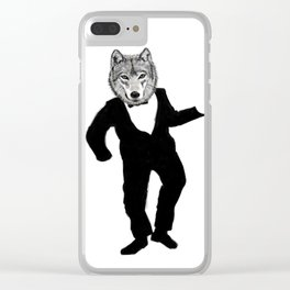 Dancing Wolf Clear iPhone Case