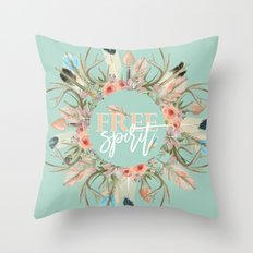 free spririt Throw Pillow