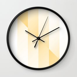 Gold Gradient Stripes Wall Clock
