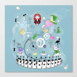 Wonderland teacups Canvas Print