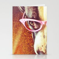 pitbull Stationery Cards featuring Vintage Pitbull by LeeAnnPoling