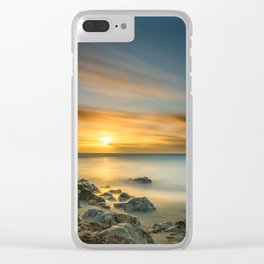 A Calm sunset in winter Clear iPhone Case