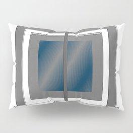 Escultura Cubo virtual azul y negro con progresión amarilla Pillow Sham