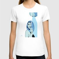 cigarettes T-shirts featuring Genevieve & Cigarettes  by Andrew Formosa